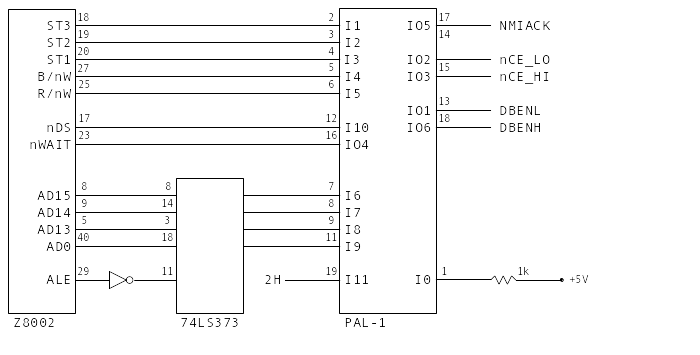 Pole Position PAL-1 Equivalent Circuit